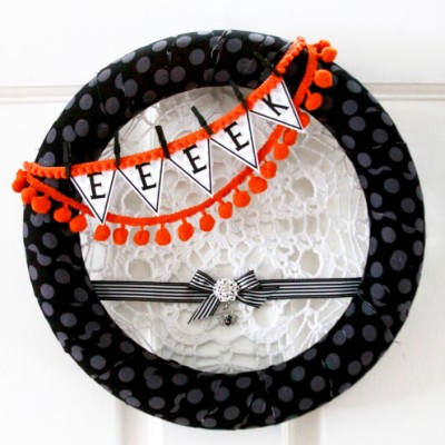 Glam Spider Halloween Wreath