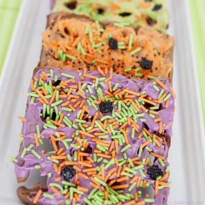 Halloween Chocolate Waffle Cookies