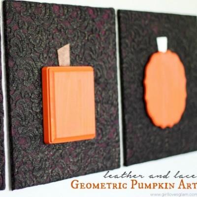 Geometric Pumpkin Art