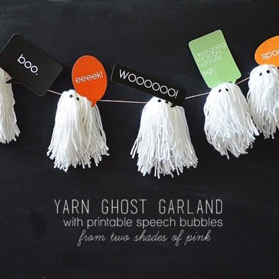 Yarn Ghost Garland