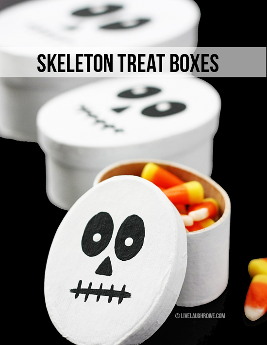 Super Cute DIY Skeleton Treat Boxes for Halloween