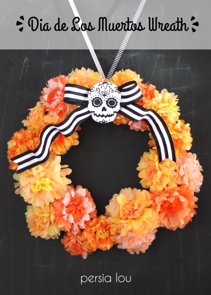 Dia de los muertos wreath eighteen25 dia de los muertos wreath mightylinksfo Choice Image