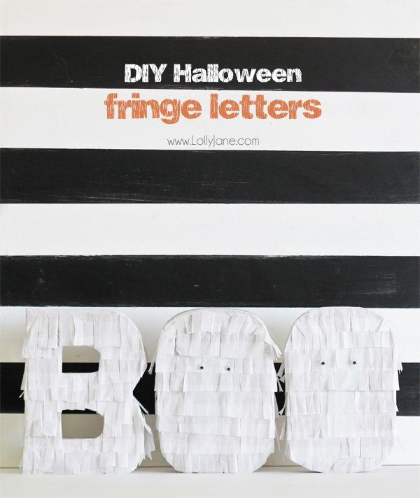 halloween fringe letters
