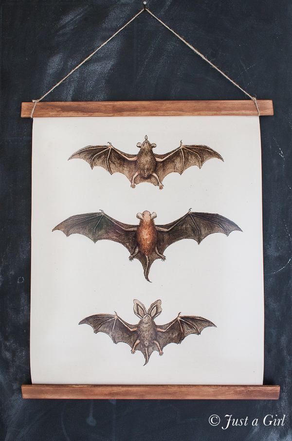Diy Bat Print Wall Hanging Eigh25