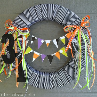 Halloween Printable Pennant Wreath