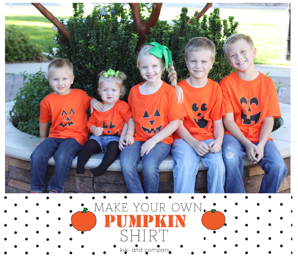 Make Your Own Pumpkin Shirt. The kids love making these each year!