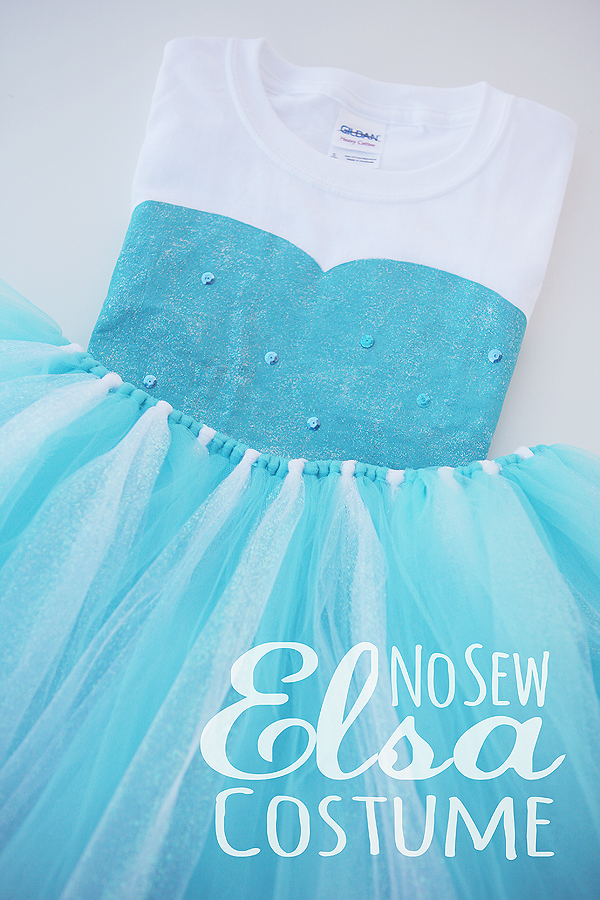 DIY No Sew Elsa Costume & DIY No Sew Elsa Costume - Eighteen25