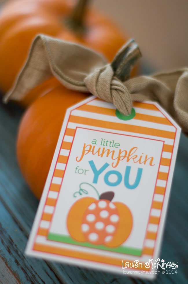 Free Printable Pumpkin Gift Tags - Eighteen25