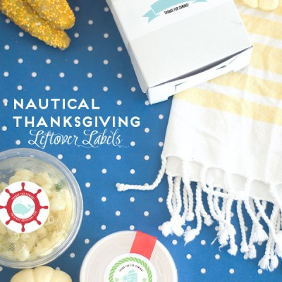 Nautical Inspired Thanksgiving Leftover Labels