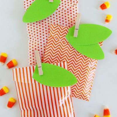 Simple Pumpkin Favor Bags