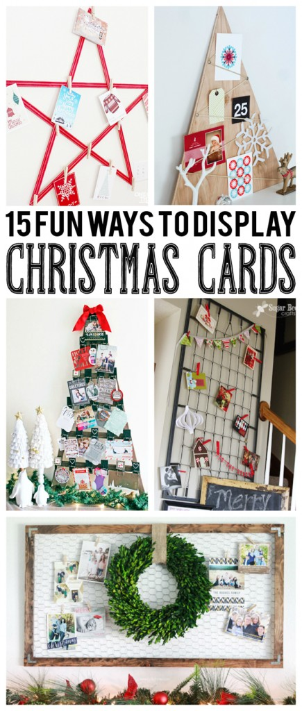 Christmas Card Display.15 Fun Ways To Display Christmas Cards Eighteen25