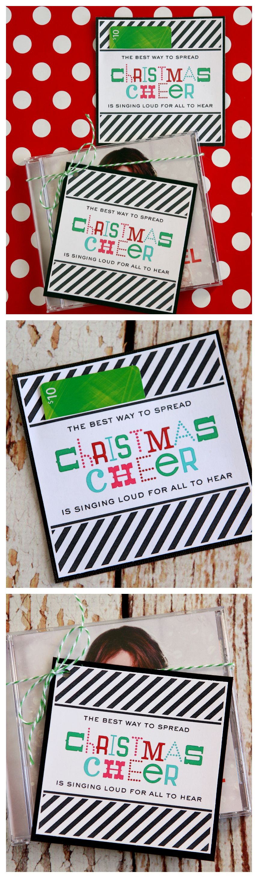 The Best Way To Spread Christmas Cheer Is Singing Loud For All To Hear. Fun Christmas Gift Idea - includes the free printable tag!