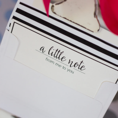 Black and White Note Cards & Envelope Liners