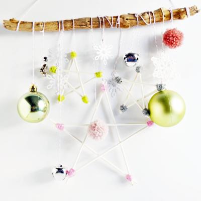 Lollipop Stick Star Ornaments
