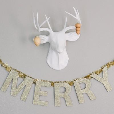 Gold Merry Banner