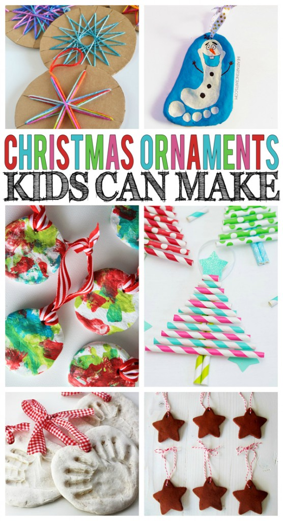 Christmas Ornaments Kids Can Make - Eighteen25