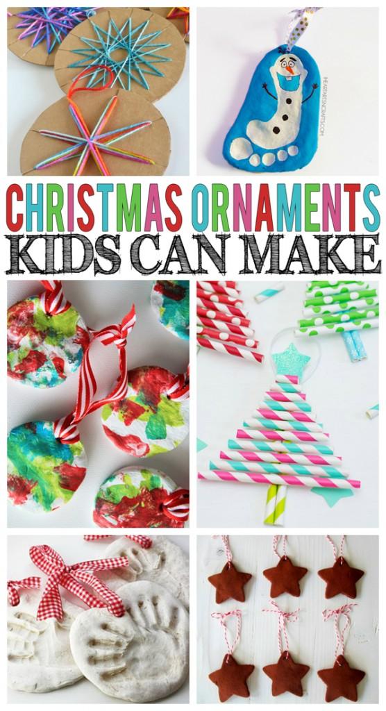 Wonderful Christmas Gift Ideas Kids Can Make Part - 8: Self Portrait Ornaments