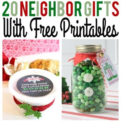 Christmas Neighbor Gifts with Free Printables