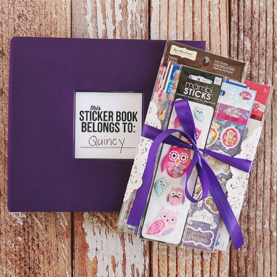 Sticker Book Gift Idea