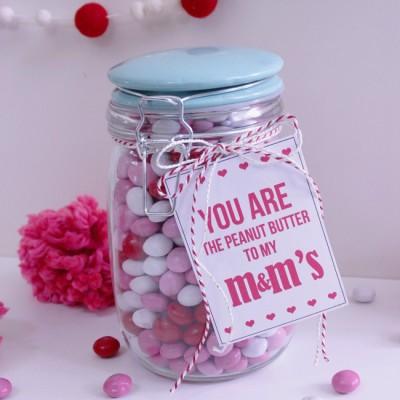 Peanut Butter M&M's Valentine Gift