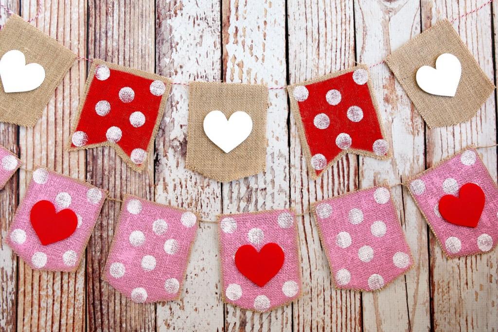 Valentineu0027s Day Heart Banner