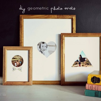 DIY Geometric Photo Mats