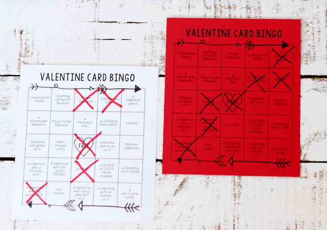 Printable Valentine Card Bingo