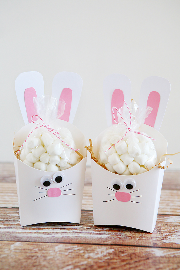 Fry Box Bunny Easter Treat Containers Eighteen25