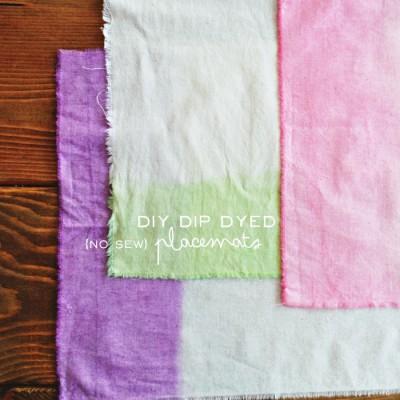 DIY Dip Dyed No Sew Placemats