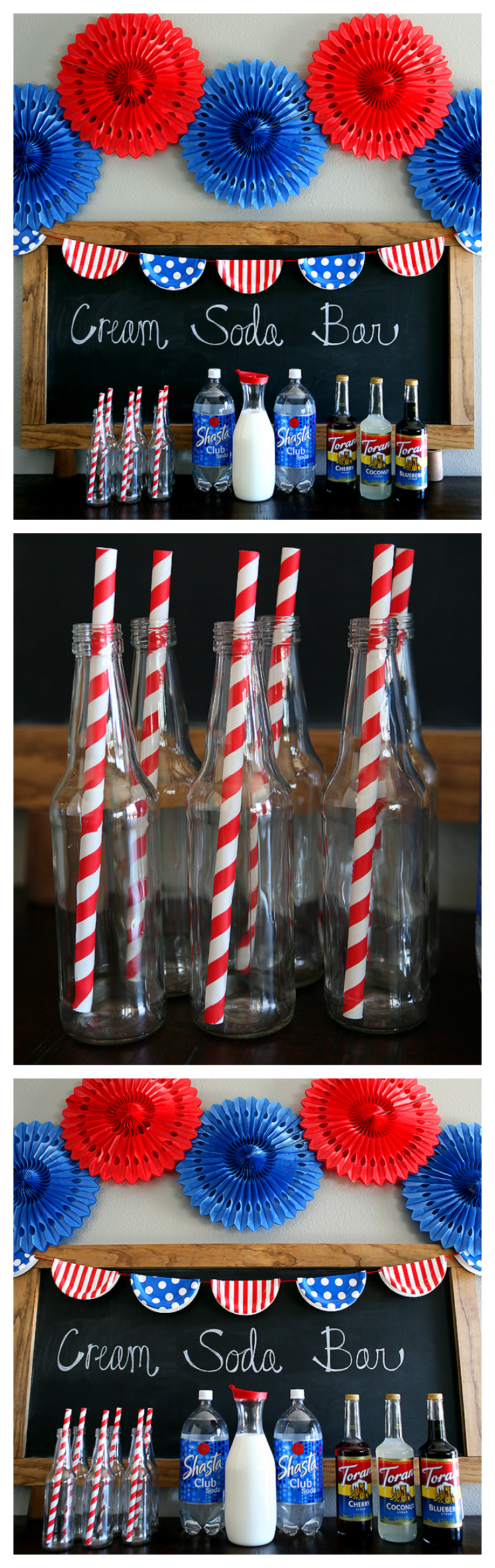4th of July Cream Soda Bar | 4th of July Drink Ideas