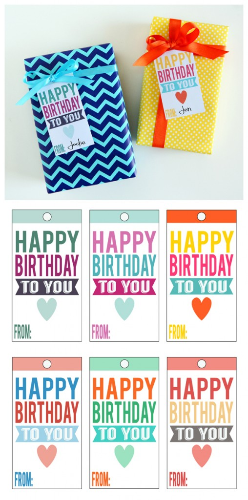 It's just a graphic of Crazy Free Printable Birthday Gift Tags
