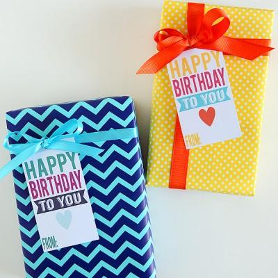 Printable Happy Birthday Tags