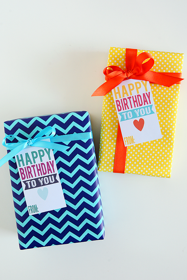 Printable Happy Birthday Tags Eighteen25