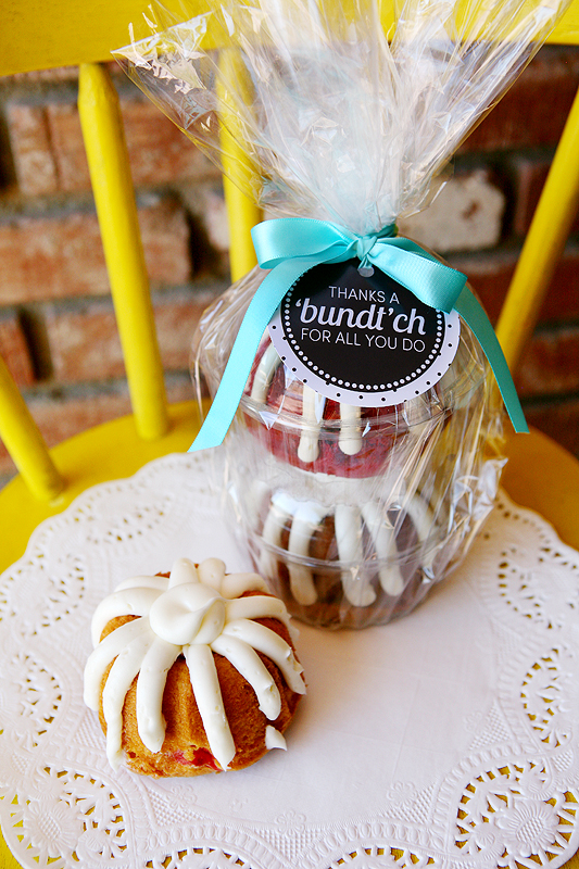 Teacher Gifts | Thanks a 'bundt'ch for all you do.