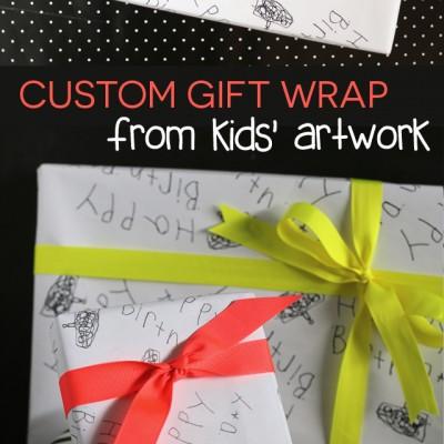 Custom Gift Wrap From Kids' Artwork
