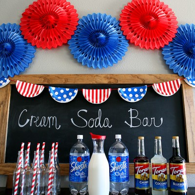 Red, White And Blue Cream Soda Bar