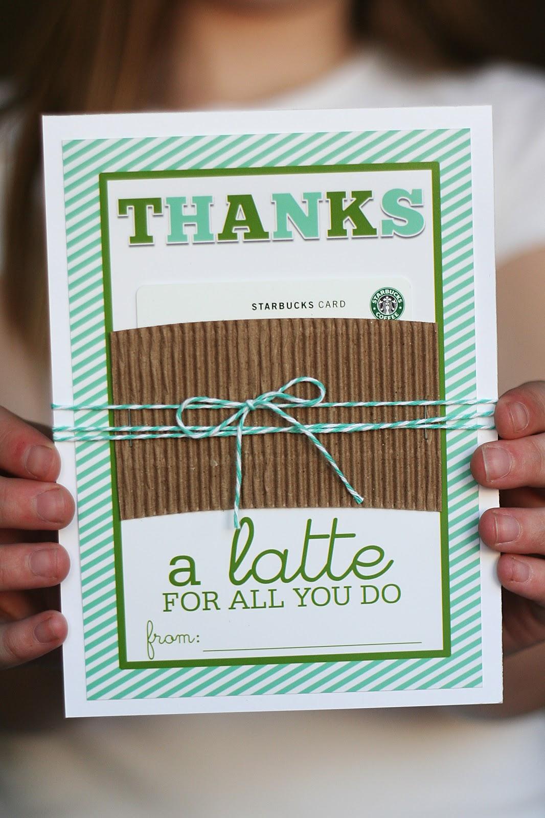 Thanks a latte for all you do | Teacher Appreciation Week Gift Ideas