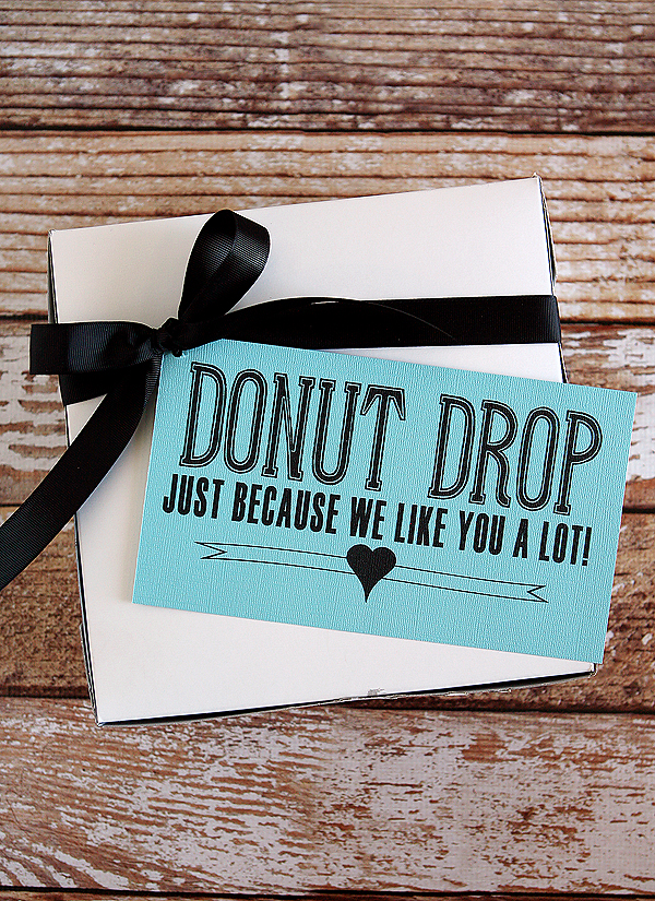 Donut Drop Gift Idea