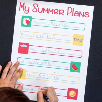Summer Plans Free Printable