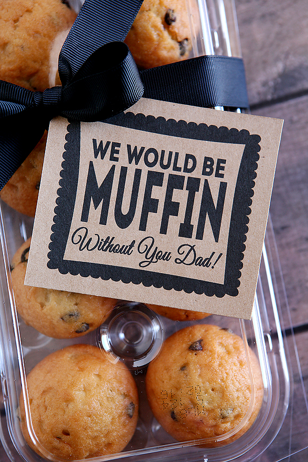 father's day muffin gift
