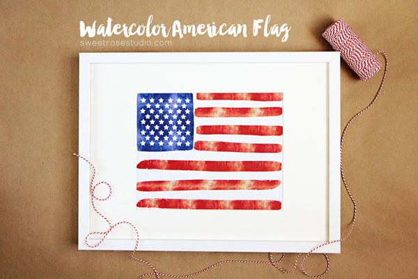 4th Watercolor-American-Flag-4