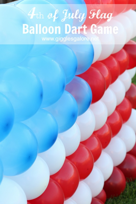 4th of July Flag Balloon Dart Game | Giggles Galore
