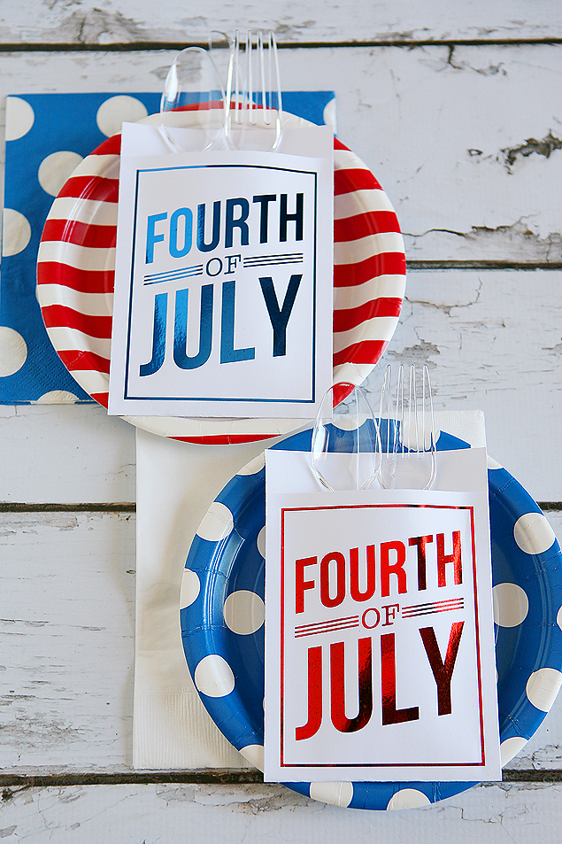 4th of july utensil holders