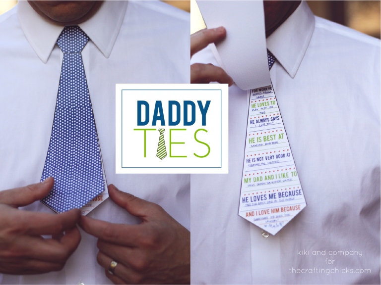 Daddy Ties | Kiki and Co via The Crafting Chicks