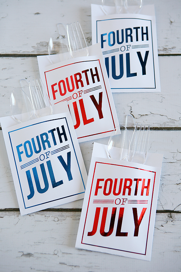 fourth of july utensil holders