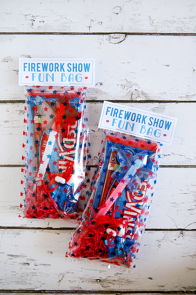 fun firework show bags for the kids