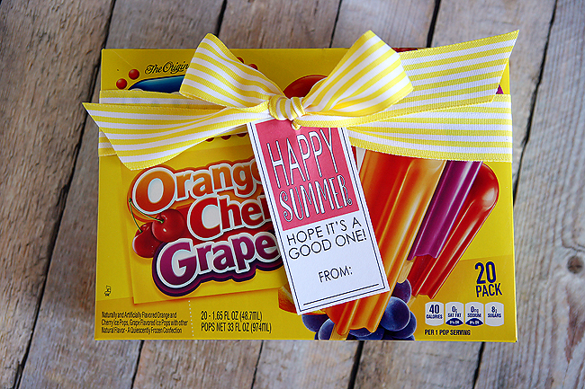happy summer popsicle gift