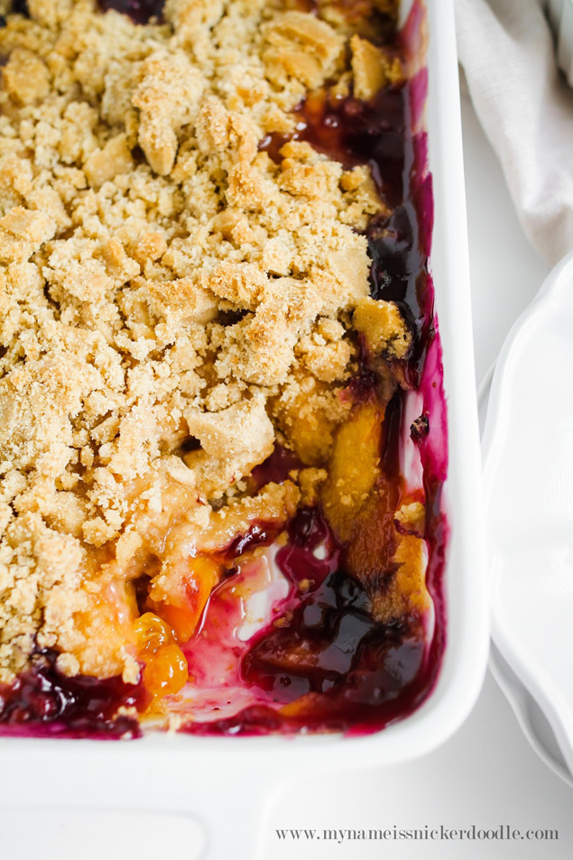 The Best Peach and Blueberry Crisp