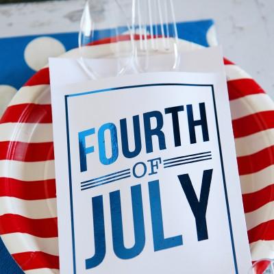 Minc Foiled 4th of July Utensil Holders