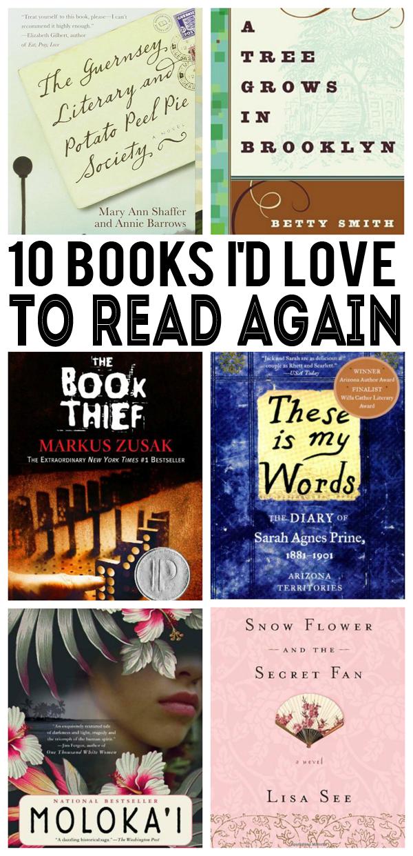 ten books i'd love to read again